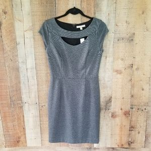 NWT Banana Republic Tweed A-Line Gray Dress